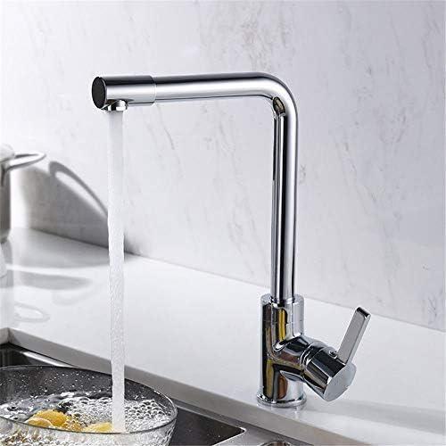 Yadianna バスルームのシンクの蛇口のミキサーの浴室台所の蛇口防水保存水洗ホットとコールドのフル銅シングルコントロールモノラルキッチン