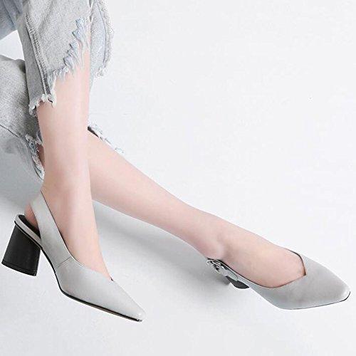Doigt Taille sur Gray Pied Pompes Sandales Robe Femmes Haute Mode Escarpins Cuir Chaussures EU41 de Couleur 5 8 Caleçon Extrême Fermé UK7 Stylet Gray CJC 4H0w6qx