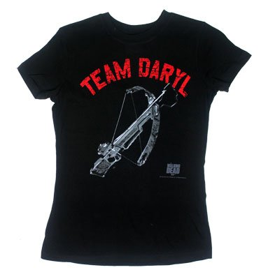 The Walking Dead Team Daryl Dixon Crossbow Official Licensed AMC Juniors T-shirt L