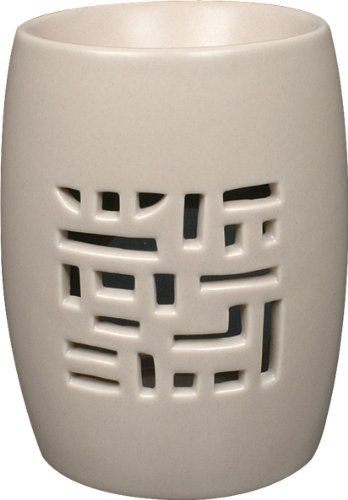 Drake Ceramic Home Fragrance Wax Melt or Oil Burner Trellis design -Beige