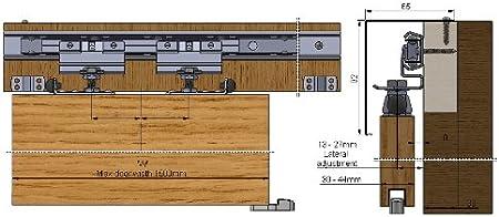 Para puerta corredera individual Flyaside resistente para ...