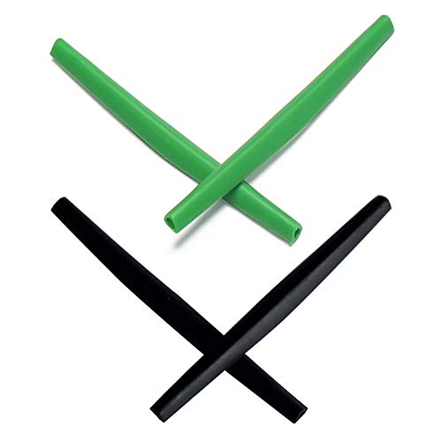 Mryok 2 Pair Replacement Earsocks for Oakley Whisker/Juliet Sunglass - Dark Green & Black -  MryLens, C021WHIESBLKDGN