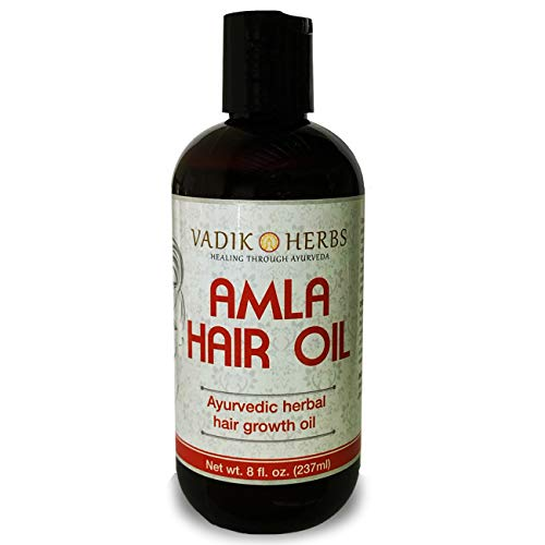 Amla Hair Oil (8 oz) by Vadik Herbs | Herbal hair growth oil | Herbal scalp treatment | Great for hair loss, balding, thinning of hair, for beard growth, made with Amla (Amalaki) - Indian gooseberry (Mild Shampoo For Daily Use In India)