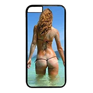 """iCustomonline Sexy Bikini Girl in the Sea Case for iPhone 6(4.7"""") PC Material Black-Fits iPhone 6(4.7"""") T-Mobile,AT&T,Sprint,Verizon and International"""
