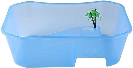 Acquario con piattaforma Sunshine Basking Tartaruga Tartaruga Rettile Acquario aperto in plastica trasparente blue