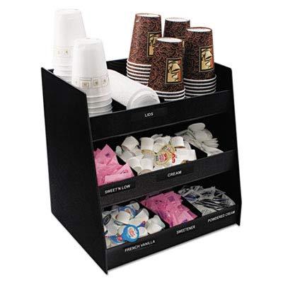 Vertiflex Vertical 3-Shelf Condiment Organizer, 9 Compartments, 14.5 x 11.75 x 15 Inches, Black (VFC-1515) by Vertiflex