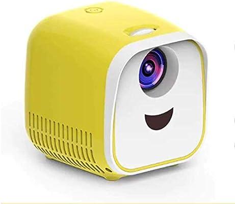 TOPQSC Mini proyector Proyector LED Full HD Proyector de Bolsillo portátil Compatible con Tarjeta USB TF para Cine en casa