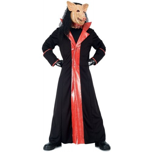 Paper Magic Men's Jigsaw Adult Deluxe Pig Costume And Mask,Black,Small