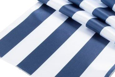 lovemyfabric 1 Inch Striped Satin Table Runner For Wedding/Bridal Shower Birthdays/Baby Shower Home Decor and Special Events (12