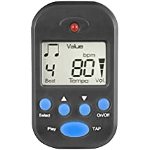 Luvay Digital Metronome - Mini Portable, Multifunctional, Clip on, Beat Tempo - with Battery for Piano, Guitar, Violin, Drum, Flute etc. (Black)