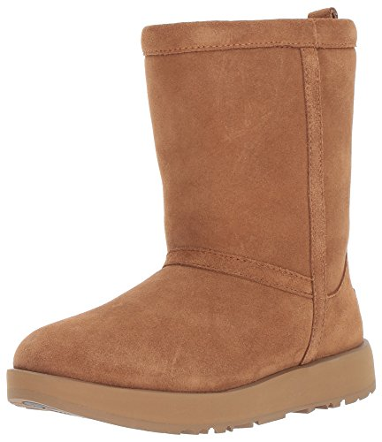 UGG Women's Classic Short Waterproof Snow Boot, Chestnut, 7.5 M US (Uggs Leather Patent)