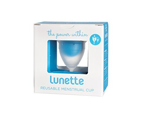 Lunette Reusable Menstrual Cup - Clear - Model 1 for Light Flow - Your Vagina's New Best Friend