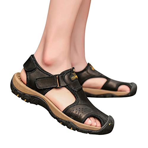 Summer Men's Sandals,Mens Fashion Leather Hiking Shoes Flats Slippers Beach Water Shoes Sport Sandals by Tronet Sandals (Image #7)