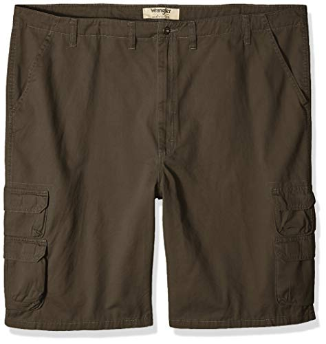 Wrangler Authentics Men's Big and Tall Big & Tall Premium Twill Cargo Short, Anthracite, 50