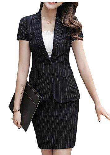 WSPLYSPJY Womens 2 Piece Slim Fit Suits Set Business Office Lady Jacket 1 XS by WSPLYSPJY