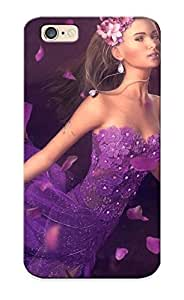New FpFvoeU458FfBJE Flying Girl In Purple Petals Skin Case Cover Shatterproof Case For Iphone 6
