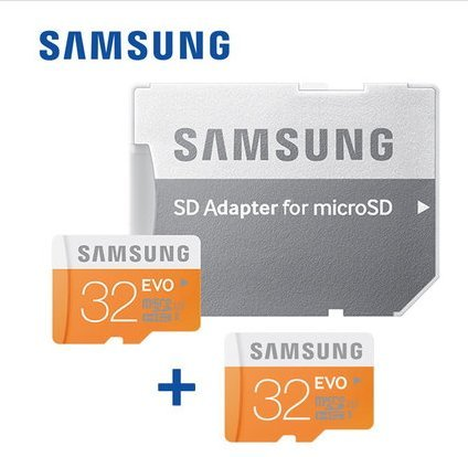 Samsung Micro SD EVO 32GB 1+1 (only one SD adapter) by Samsung