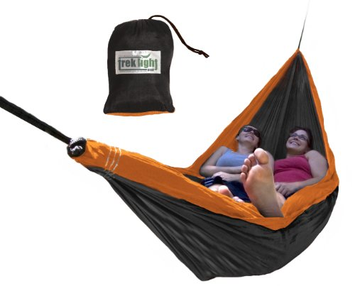 Trek Light Gear Double Hammock (Black/Orange), Outdoor Stuffs