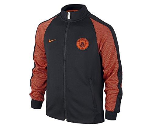 Nike Manchester City N98 Track Soccer Jacket (Black, Orange) Large