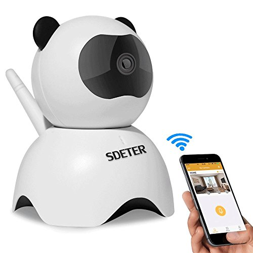 720P Wireless Wifi IP Camera, Sdeter Security Camera With Night Vision And Pan