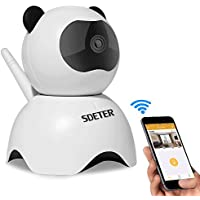 720P Wireless Wifi IP Camera, Sdeter Security Camera With Night Vision And Pan Tilt SD Card Slot Alarm For Tablet And Smartphone