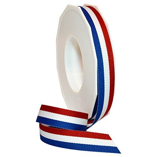 Morex Ribbon Grosgrain Stripes White