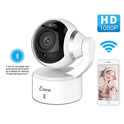 Home Security Camera System Wireless Pet Camera with Phone App Speaker, Pan Tilt Zoom WiFi Camera Indoor IP Surveillance Camera Dome, Motion Alarm for Baby/Elder/Nanny/Office,with Bluetooth Speaker