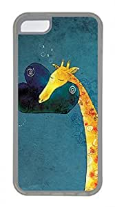 LJF phone case iphone 5/5s case, Cute The Sleeping A Giraffe iphone 5/5s Cover, iphone 5/5s Cases, Soft Clear iphone 5/5s Covers
