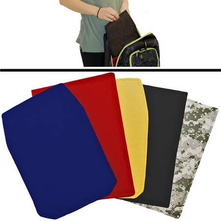 - Large protective black panel insert for backpacks for school safety and protection