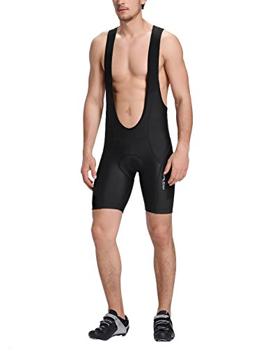 Baleaf Men's Elite Cycling Bib Tights Shorts UPF 50+ Black Size L