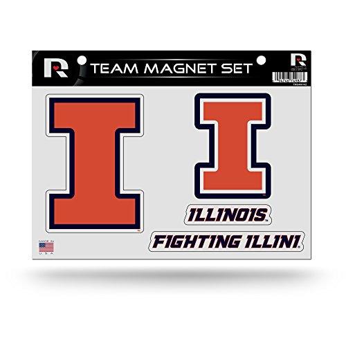 Illinois Fighting Illini Sheet Set - NCAA Illinois Illini Die Cut Team Magnet Set Sheet