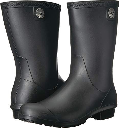 UGG Women's Sienna Matte Rain Boot, Black, 12 M US