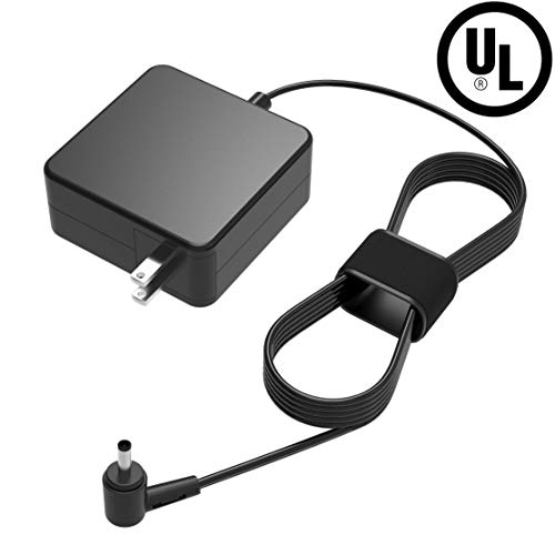 UL Listed 65W AC Charger Compatible with Asus Q504 Q504U Q504UA Q504UA-BBI5T12 2-in-1 15.6 Inches FHD Laptop Portable 7.5Ft Power Supply Adapter Cord