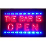 Neonetics 5BRLED The Bar is Open LED Sign