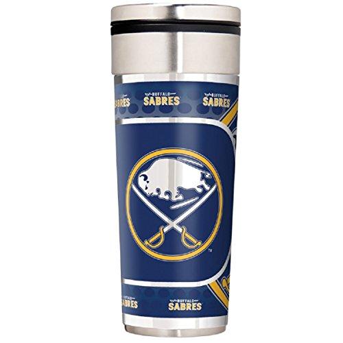 NHL Buffalo Sabres Travel Tumbler with Metallic Graphics, 22-Ounce, (Buffalo Sabres Travel Mug)