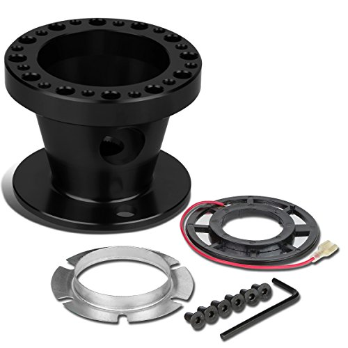 Aluminum Steering Wheel 6-Hole Hub Adaptor Kit (Black) For Camry/Corolla/4Runner/MR2/Scion tC - Shift Adapter Short
