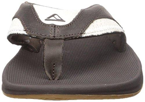 Reef Leather Fanning, Sandalias Flip-Flop para Hombre Varios colores (White / Brown)