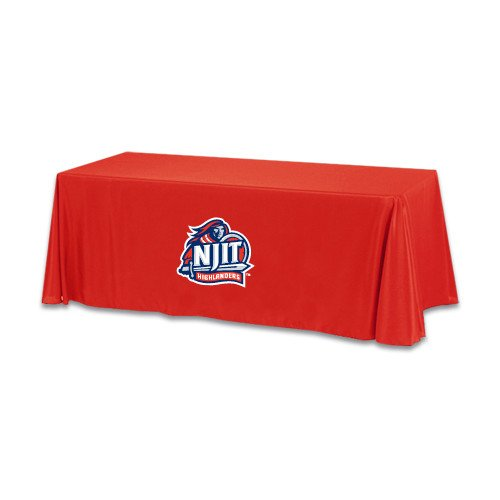 NJIT Red 6 foot Table Throw 'Official Logo' by CollegeFanGear