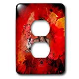 3dRose Heike Köhnen Design Fantasy - Beautiful women with clef - Light Switch Covers - 2 plug outlet cover (lsp_287338_6)