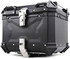 Mentmate リアボックス 45/55/65/100L トップケース シルバー アルミ製品 大容量 ツーリング 取り付けベース 鍵2本 インナーライニングあり 反射スリトップ2本 …