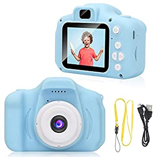 IEBRT Kids Video Camera, Kids Digital Camera Toddler Video Camcorder Video Camera Recorder Rechargeable Shockproof Camera 2 Inch LCD Screen Birthday Toy Gifts for 3-12 Years Old Boys Girls