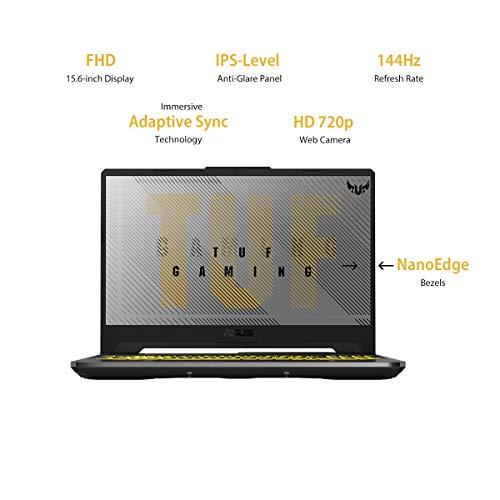 "ASUS TUF Gaming A15 Laptop 15.6"" FHD 144Hz Ryzen 5 4600H, GTX1650 4GB Graphics (8GB RAM/1TB HDD + 256GB NVMe SSD/Windows 10/MS Office 2019/Fortress Gray/2.30 Kg), FA566IH-HN150TS"