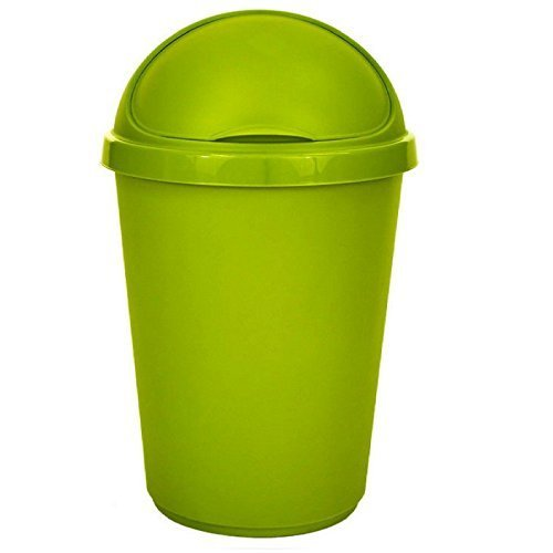 Gehäuse Mülleimer Recycling Abfall Müll Karton Plastik Verfügung Abfalleimer Abziehbar Klappe Deckel - 50 Liter Grün