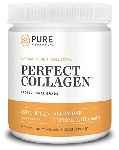 Pure Prescriptions Perfect Hydrolyzed Collagen Protein Powder Supplement – Pasture-Raised, Grass Fed Beef, Chicken, Wild Fish and Egg Shell Peptides providing Type I, II, III, V and X – Flavorless Review