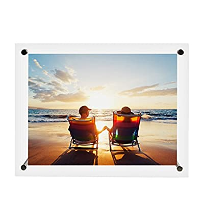 BOJIN Clear Acrylic 6 by 8 Inch Picture Frames for Table Top or Wall Display Transparent Photo Frames for Portraits or Vacation -  - picture-frames, bedroom-decor, bedroom - 41nGpxgs5ZL. SS400  -