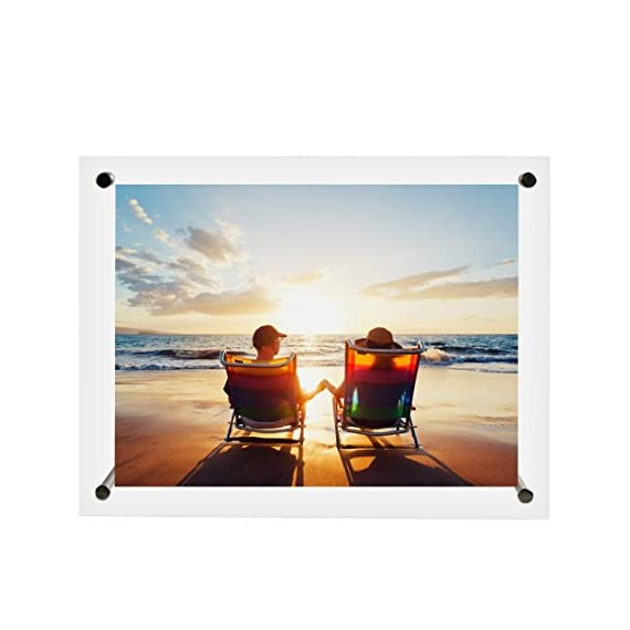 BOJIN Clear Acrylic 6 by 8 Inch Picture Frames for Table Top or Wall Display Transparent Photo Frames for Portraits or Vacation -  - picture-frames, bedroom-decor, bedroom - 41nGpxgs5ZL. SS570  -