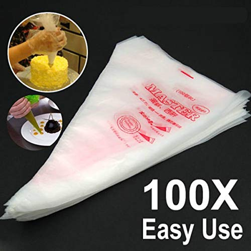 Piping Bags Ustensiles Patisserie 100pcs Disposable Piping Bag Pastry Bag Icing Piping Cake Cupcake Decorating Tools/Bags