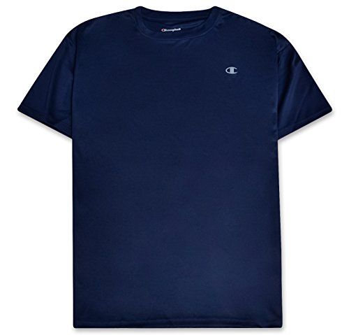 (Champion Mens Big and Tall Active Performance T Shirt with Moisture Wicking Technology Navy)