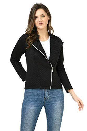 MONTREZ Full Sleeve Self Design Women Quilted Jacket