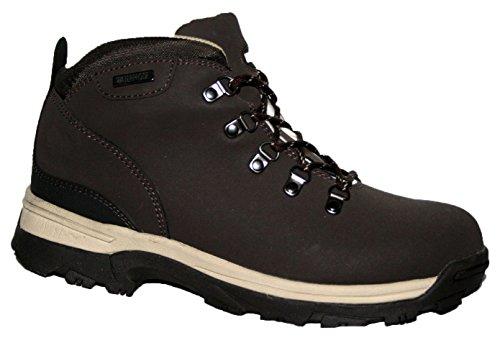 Botas de piel para mujer, ligeras, impermeables, ideales para caminar, senderismo o excursionismo marrón